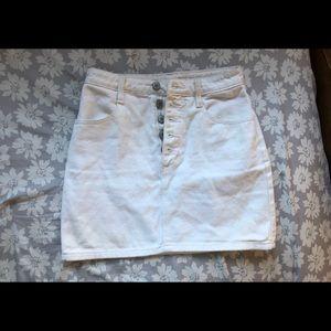 White denim skirt from pac sun